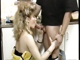 Man servant sex - Sexy servant double penetration in a kitchen