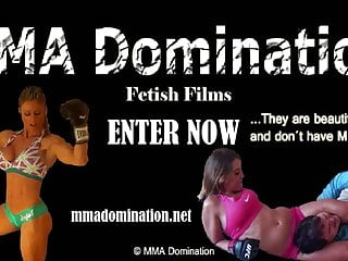 Vintage mma Trained mma girl beating guy - real hard submission