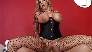 Classic big fake titted Sara J the perfect whore