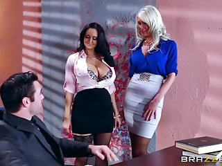 Couger with big tits at work Brazzers - ava riley - big tits at work