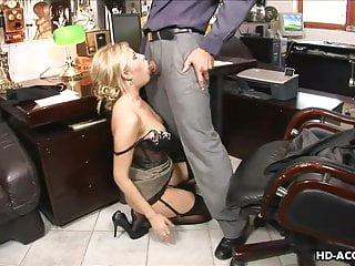 Adult pussy sucker video - Lingerie wearing blonde ball sucker is fucked proper