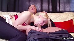 German Teen Seduce to First Fuck in Front off Camera