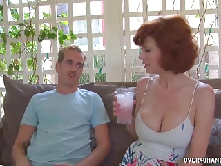 Hairy mature sex acts on video - Hot milf precisely reads his response to her act