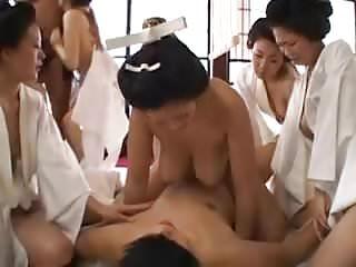 Kimono erotic Japanese kimono babes having orgy