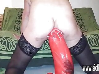 Insanely fucked - Insane colossal anal dildo fucking destruction