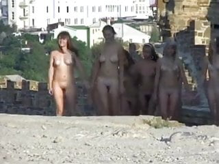 Mature hairy nudists Young nudists walking 2