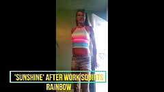 'SUNSHINE'  after work squirts RAINBOW summer outfit