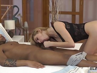 Handsome sexy man Blonde wife has spontaneous sex with handsome black man