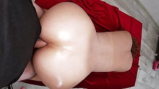 Anal sex and blowjob with a mature mom and stepson.
