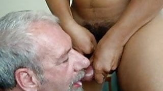 Me Getting all the cum when I play with my Asian friend! YUM
