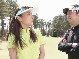 Adult chinese course - Asian slut takes it from behind in a golf course