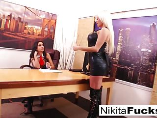 Lesbians fucking in office Nikitas lesbian office fuck