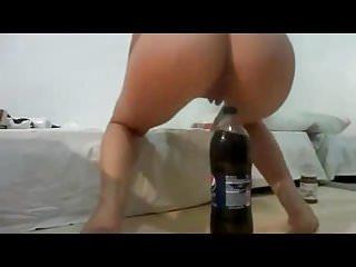 Pepsi bottle penis Big pepsi bottle deep