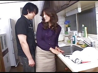 Tia ling anal Hot mommy in kitchen