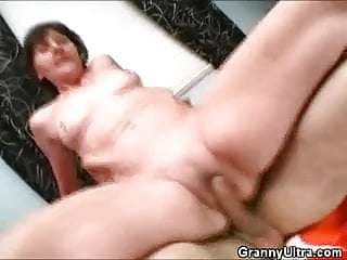 Dentures video blowjob Cock riding granny with her dentures