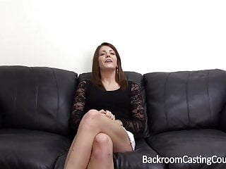 Backroom casting couch facial Sneaky creampie and anal casting