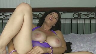 Big Boobed Mommy Charlee Chase Sucks And Fucks Her Dildo!