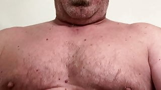 Retired military Daddy and his big uncut cock need release