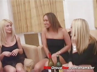 Wild sex threesome Girls doing wild party