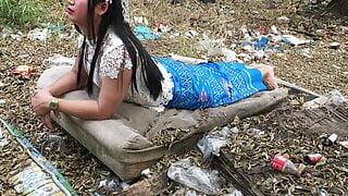 Thailand blue dress set ladyboy solo