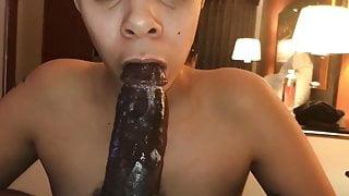 Sexy lightskinned girl fucking and sucking
