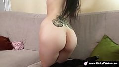Skinny french girl takes a big dick for her first audition
