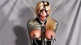 Busty tied up - Try to run away now! DH