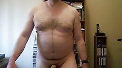 Nude walking on the spot