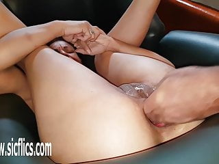 Double hole fisting Double fisting both her greedy wrecked holes