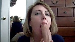 MILF Sucks and Swallows Hubby