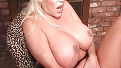 Iam Pierced MILF with nipple piercings playing with her