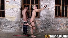 Twink Skylar Blu spanked and pounded hard for cum facial