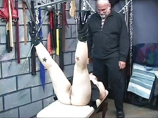 Rope round the neck fetish - Cute young bdsm brunette with perky tits is roped up and hung upside down
