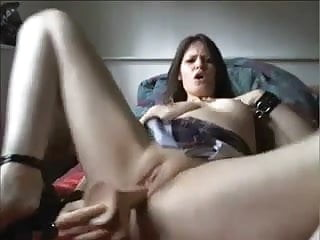 Woman having sex in high heel High heeled squirting woman loves her dildo