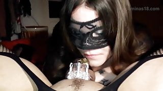 blowjob with cock cage