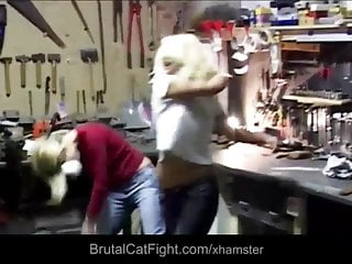 Fist fucking catfights Work rough catfight and hard fuck punishment