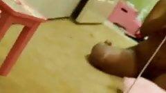Black teen selfshot fun with her body