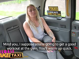 Female sexual massage video - Female fake taxi busty blonde in lesbian sexual anal play