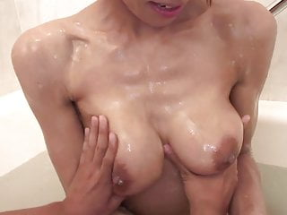 Japanese girls sucking cock Naughty slut loves sucking her mans cock in the bathtub