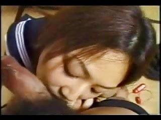 Hot latina girl is giving blowjob Hot japanese teen is giving blowjob