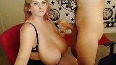 Blowjob huge tits