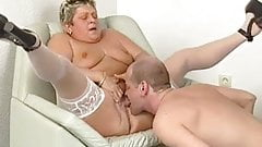 Plump Granny Is Super Horny