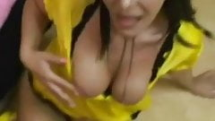 Loud chick gets anal and facial