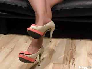 Alisa model pantyhose - Alisa high heels steps nylon foot teasing