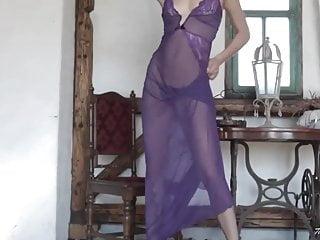 Blonde peek pussy - Lili sheer purple peek