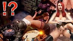 3D FUTANARI THREESOME STORY - Two Shemale Fucks Girl