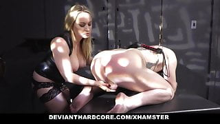 DeviantHardcore -  Sex Slave Gets Dominated by Blonde Pussy
