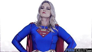 PORNFIDELITY SuperGirl Opens Her Ass for Big Dicked Fan