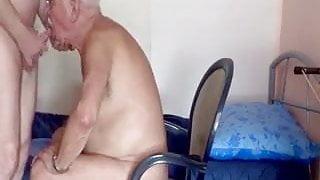 Grandpa loves his job.