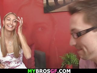 Naked game cheats - Ponytailed blonde girl loses a games and pleases him